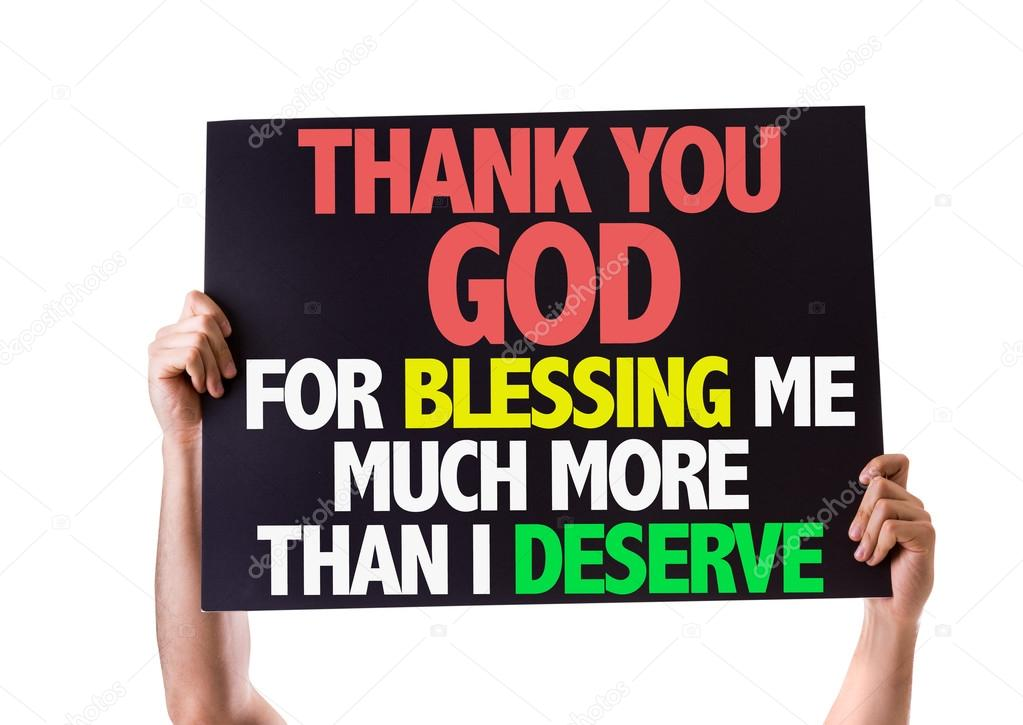 Thank You God For Blessing Me Card Stock Photo Gustavofrazao