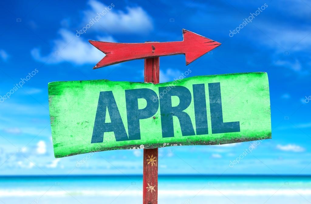 april text sign