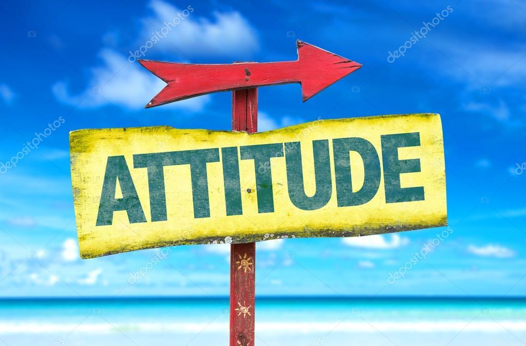 attitude text sign
