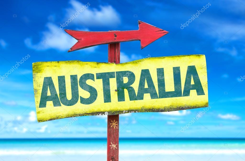 australia text sign