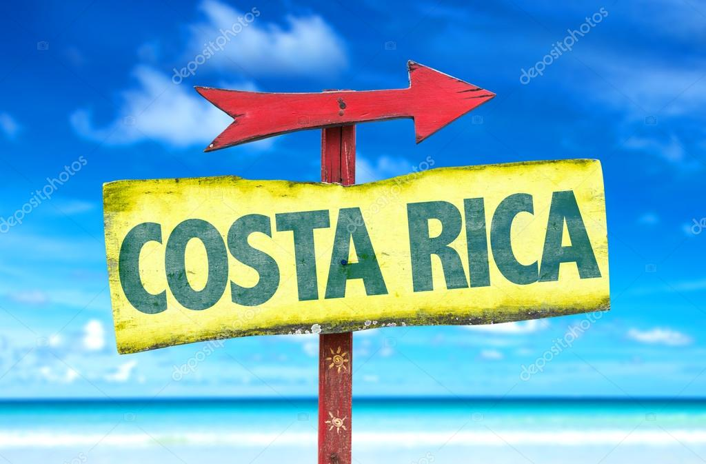 Costa Rica text sign