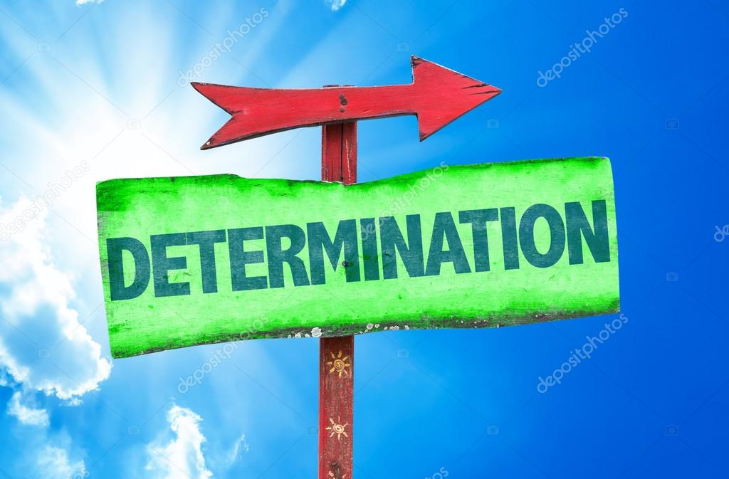 determination text sign