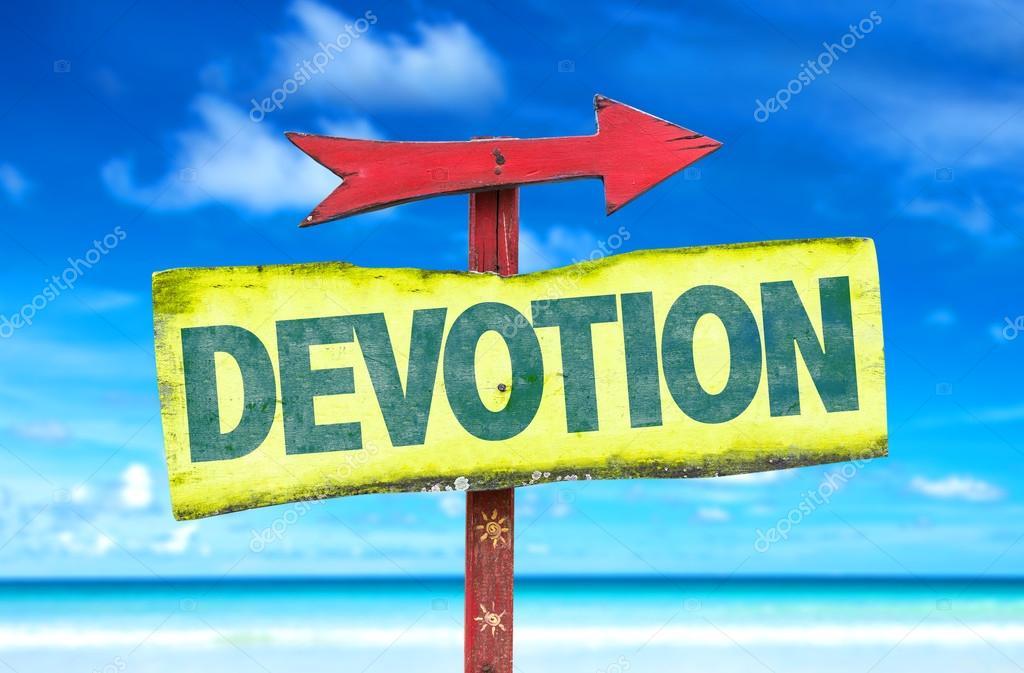 devotion text sign