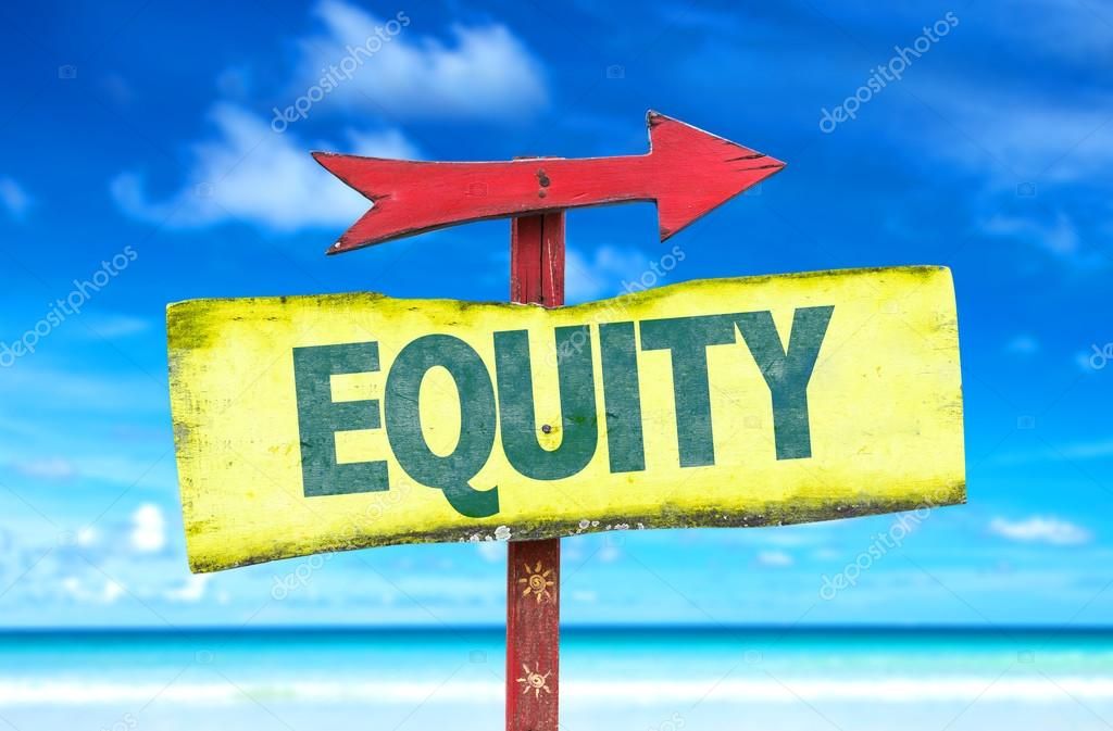 equity text sign