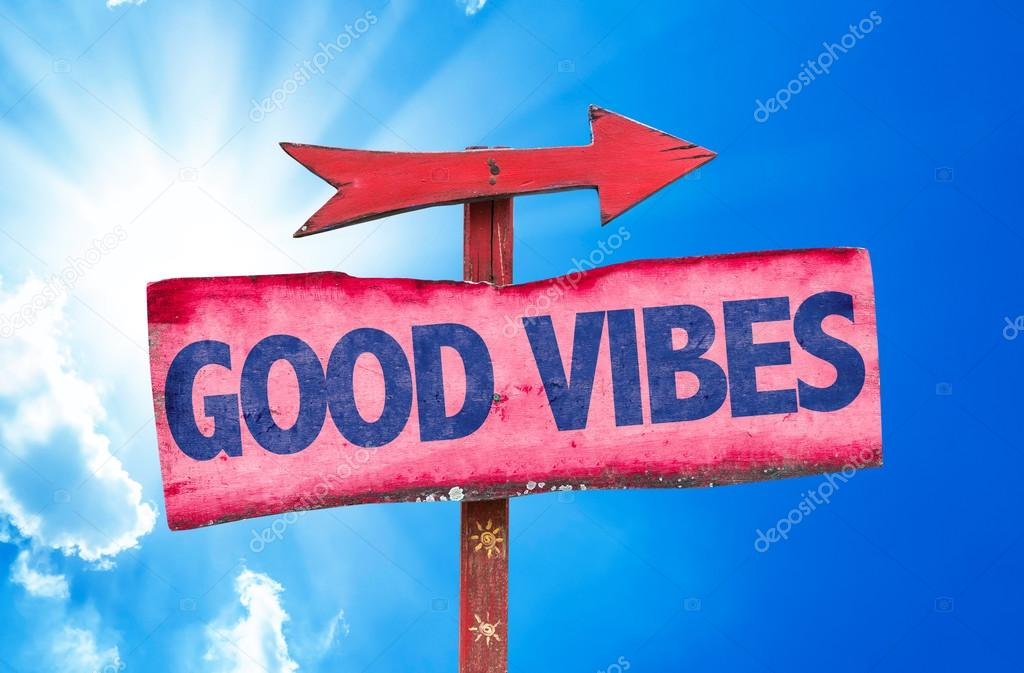 Good Vibes text sign