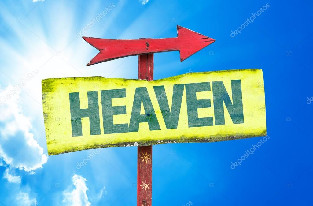 heaven text sign