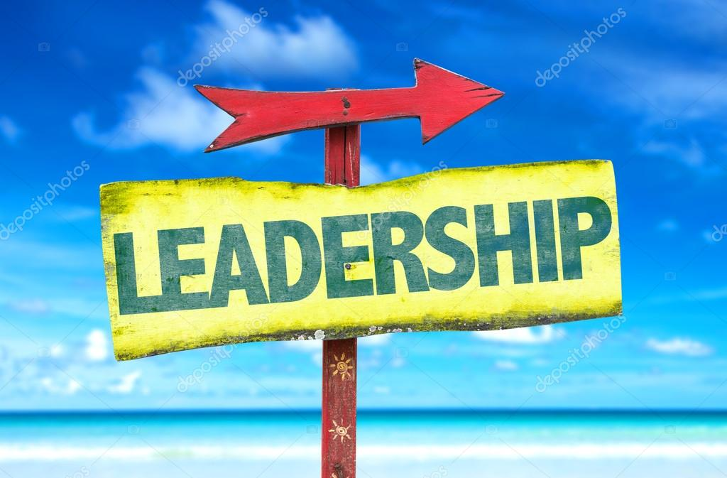 Leadership text sign