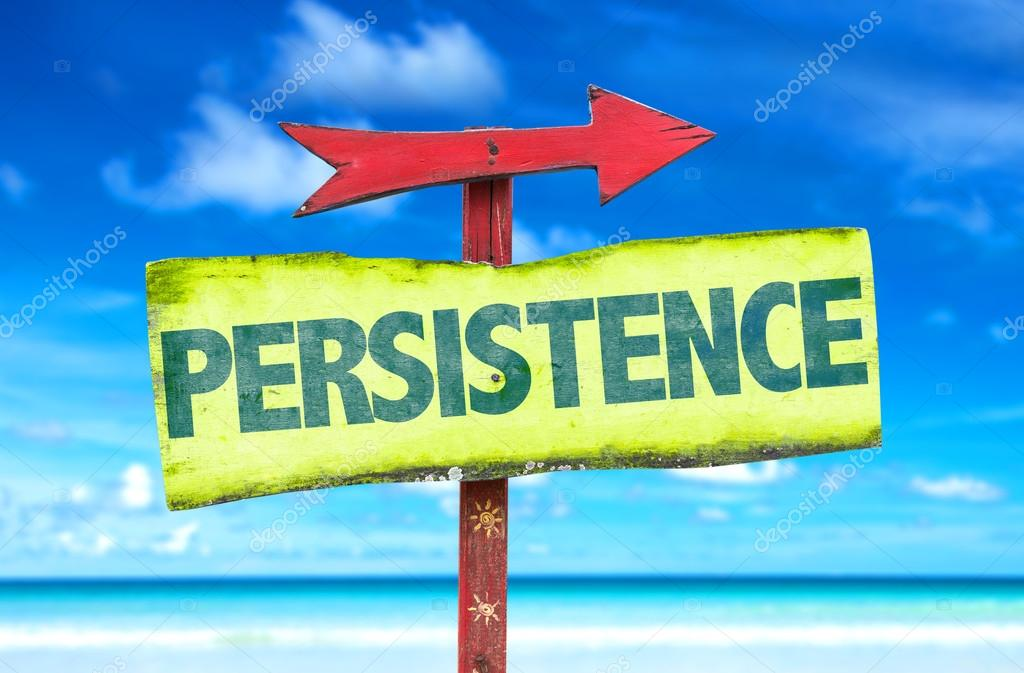 persistence text sign