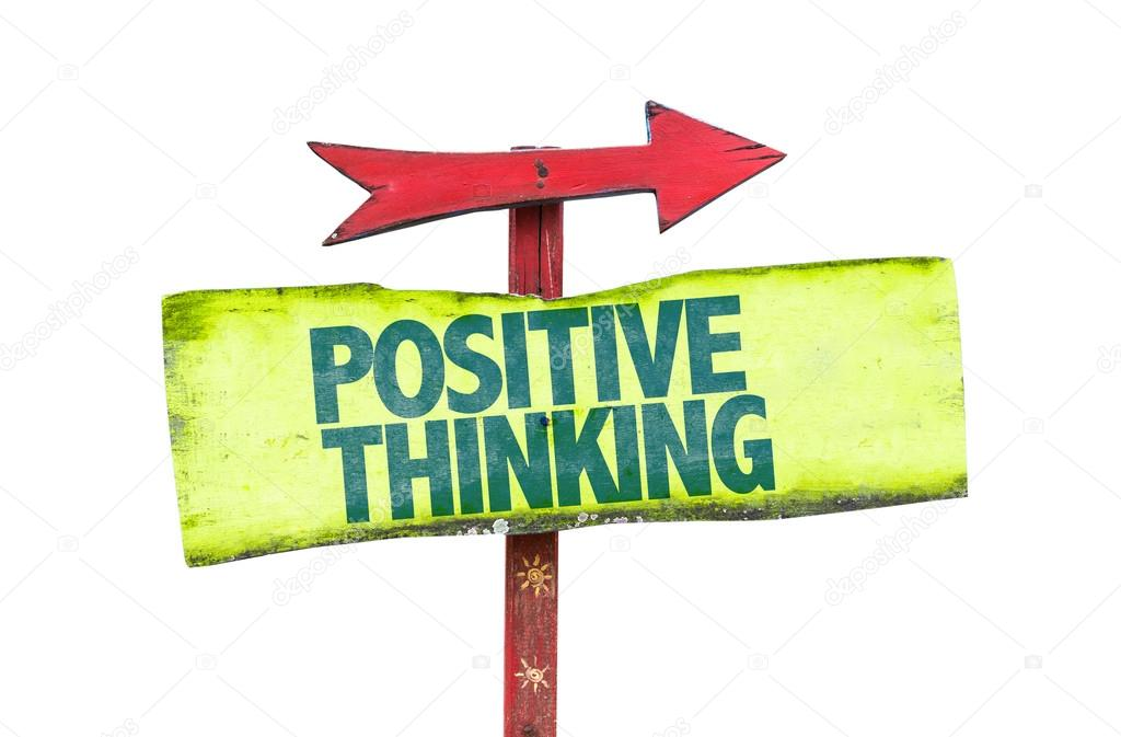 Positive Thinking text sign