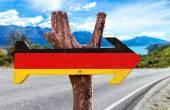 Fotografie Germany Flag wooden sign