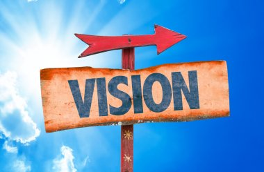 vision text sign