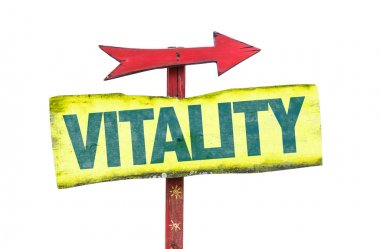 Vitality wooden sign