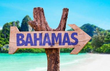 Bahamas wooden sign