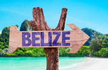 Belize wooden sign