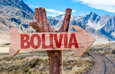 Bolivia wooden sign