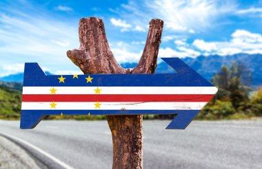 Cape Verde Flag wooden sign
