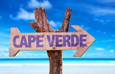 Cape Verde wooden sign