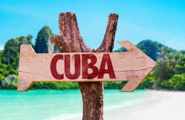 Cuba wooden sign