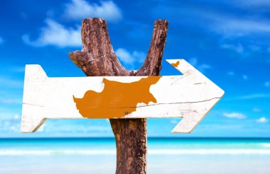 Cyprus Flag wooden sign