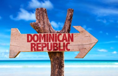 Dominican Republic wooden sign