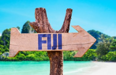 Fiji wooden sign