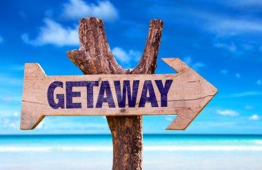 Getaway wooden sign
