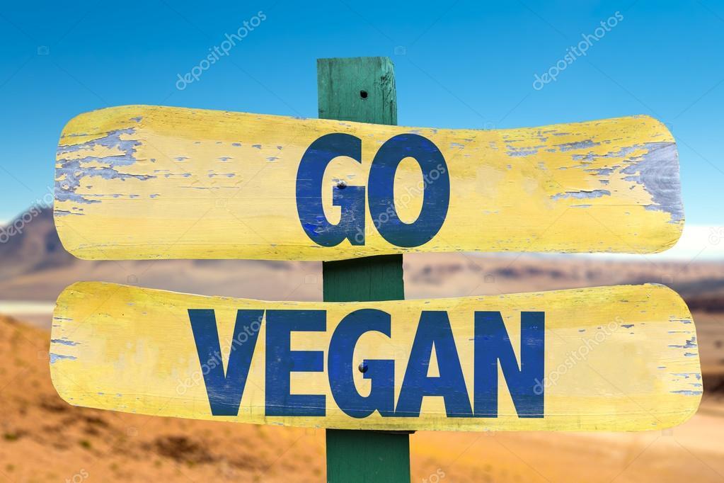 Go Vegan wooden sign
