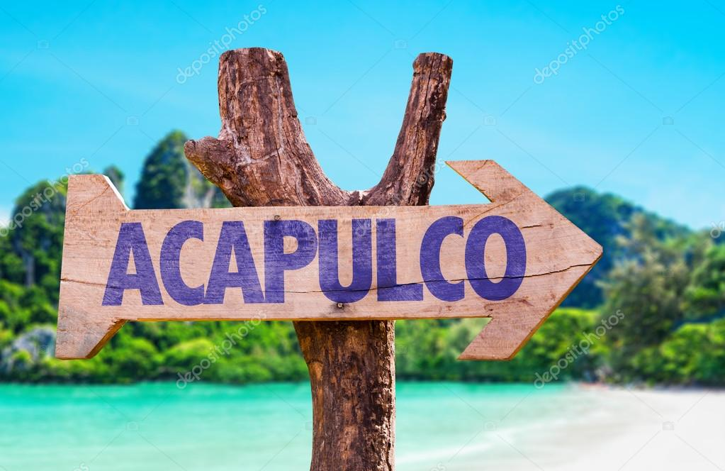 Acapulco wooden sign