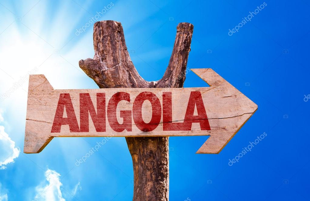 Angola wooden sign