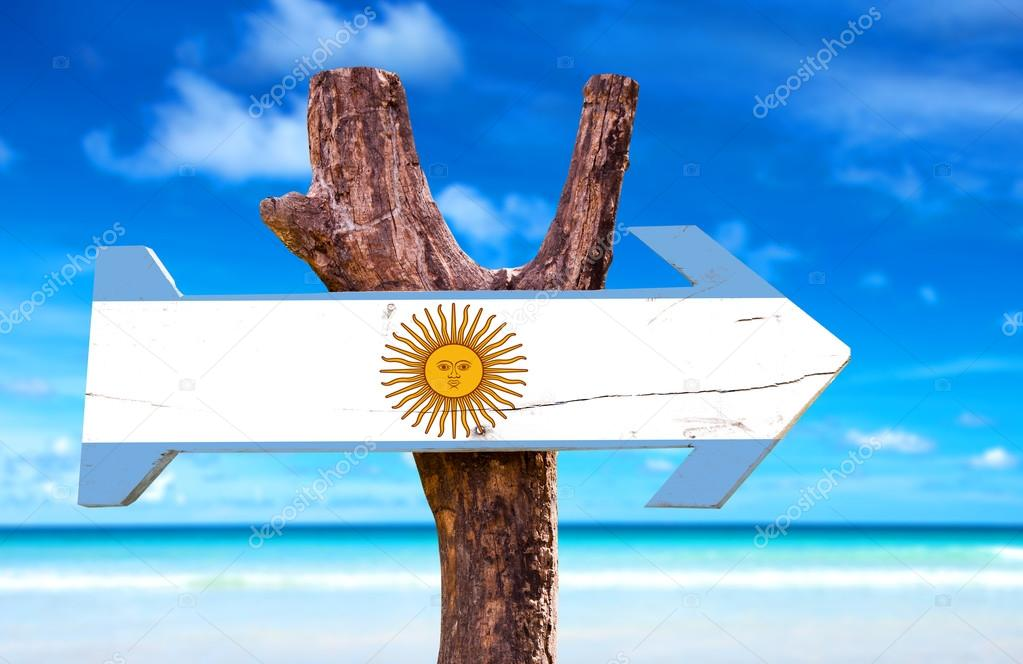 Argentina wooden sign