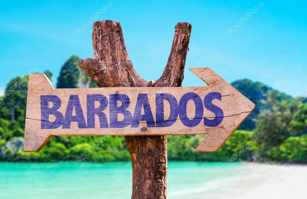 Фотообои Barbados wooden sign