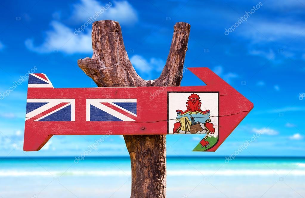 Bermuda Flag wooden sign
