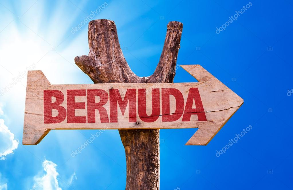 Bermuda wooden sign