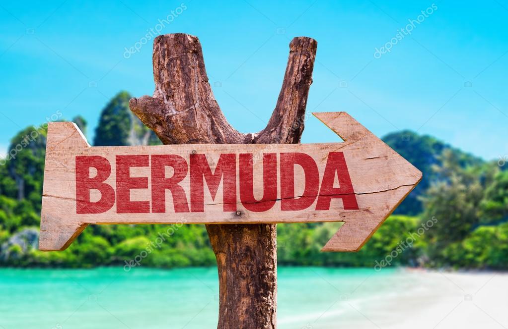 Bermuda wooden sign