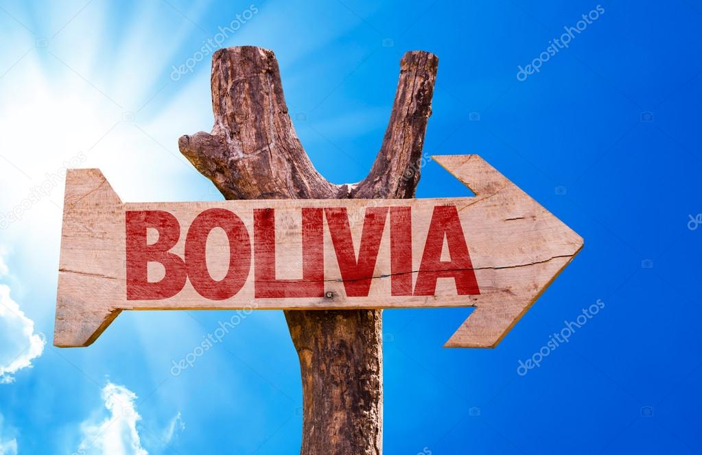Bolivia wooden sign