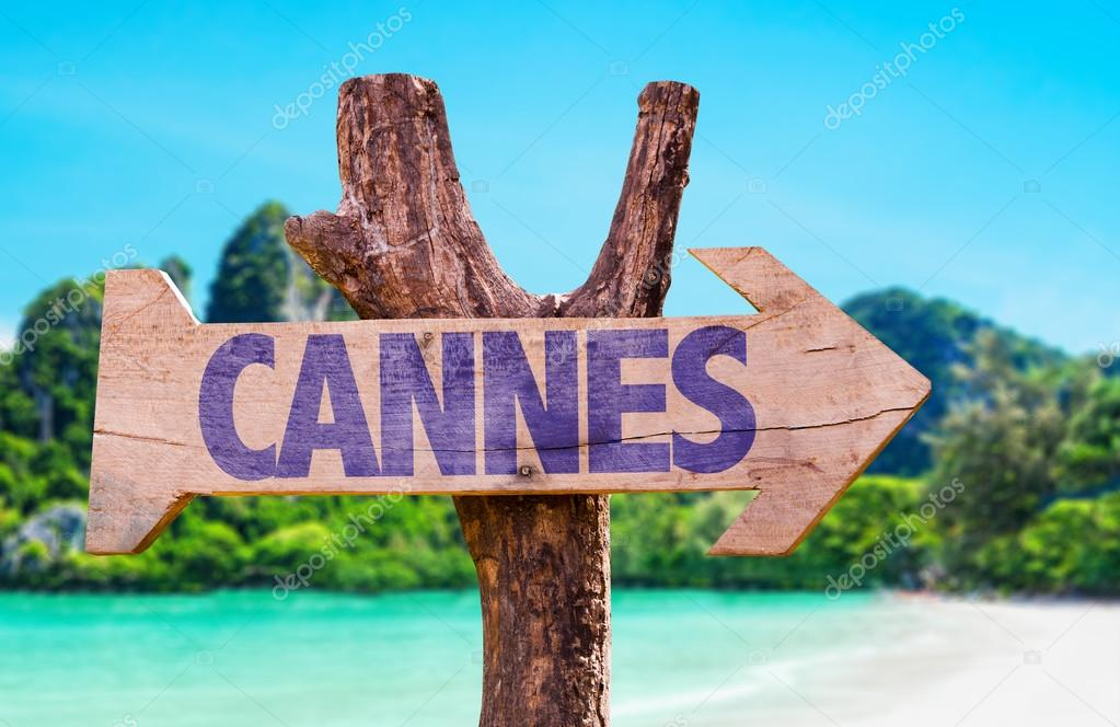 Cannes wooden sign