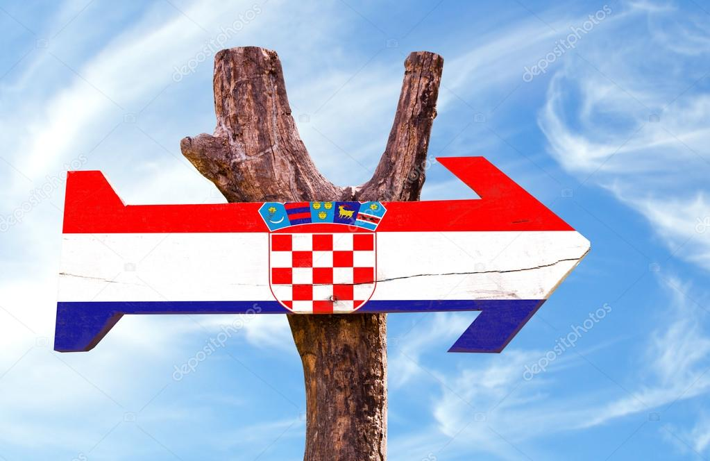 Croatia wooden sign
