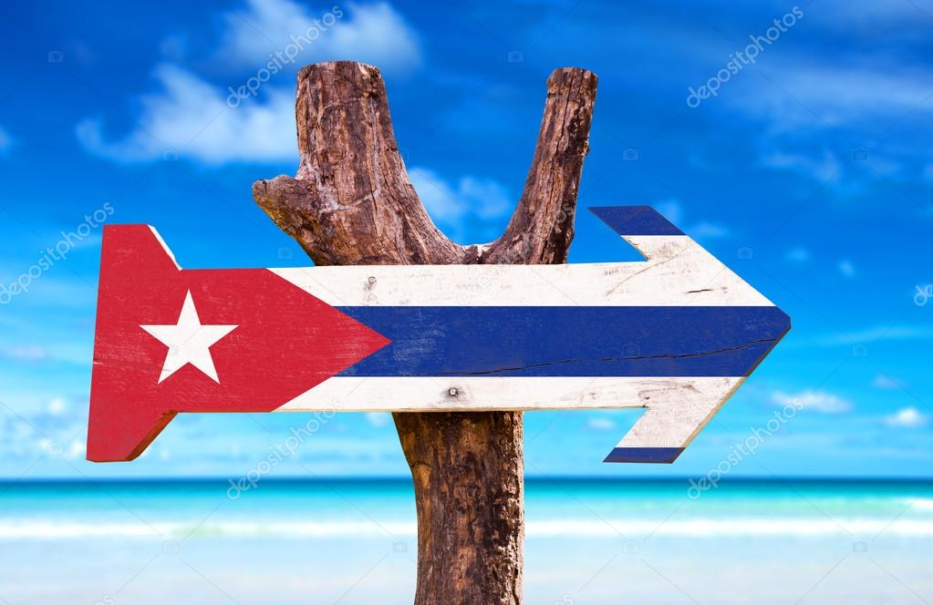 Cuba Flag wooden sign