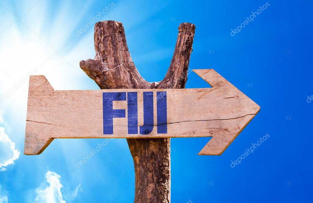 Fiji wooden sign