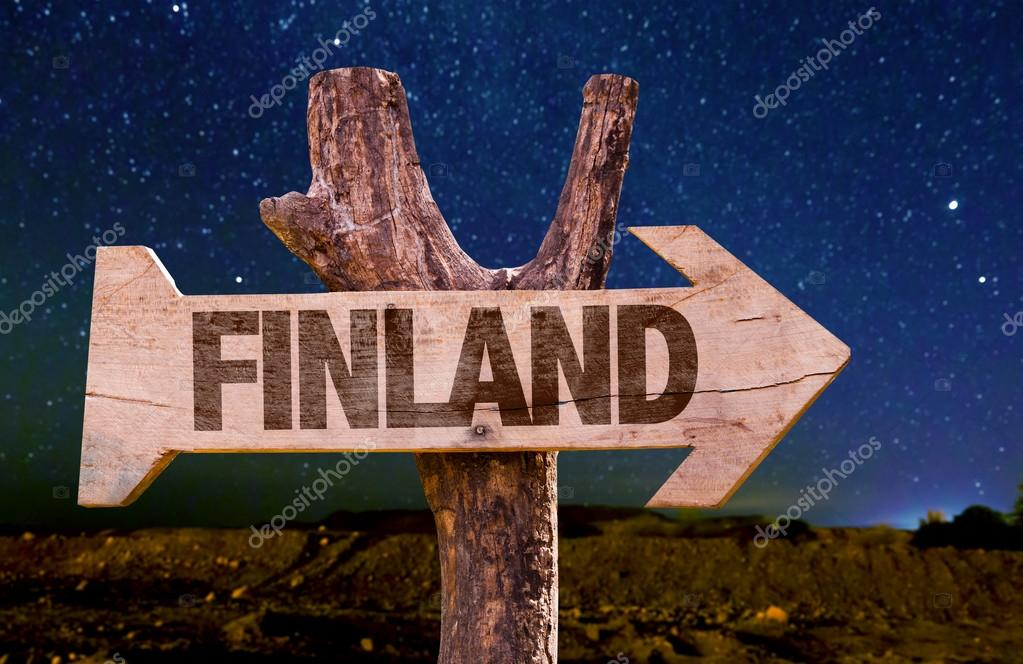 Finland wooden sign