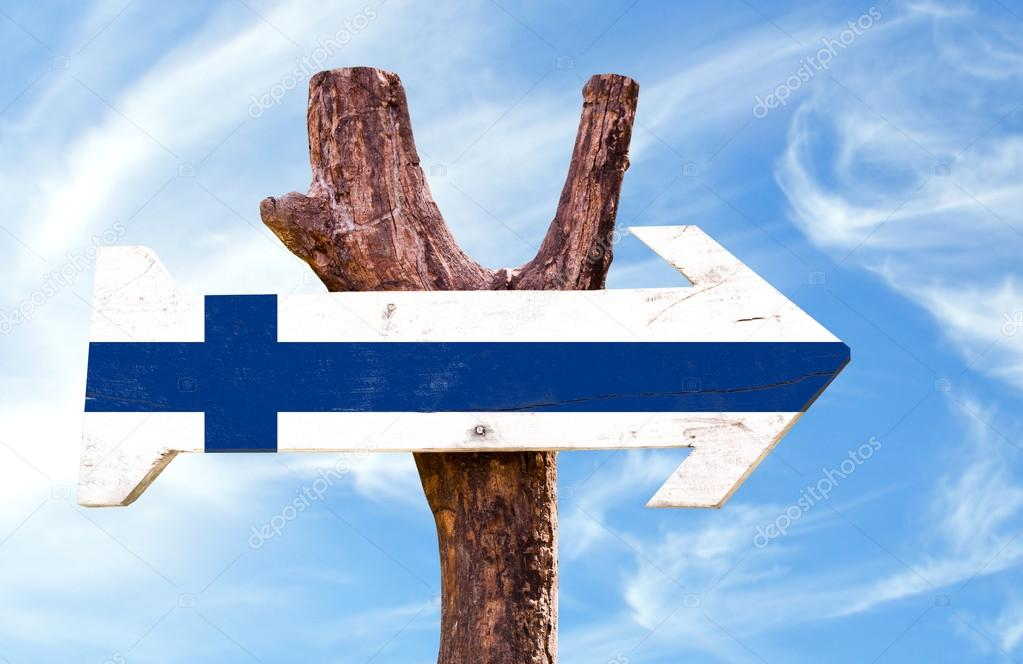 Finland flag wooden sign