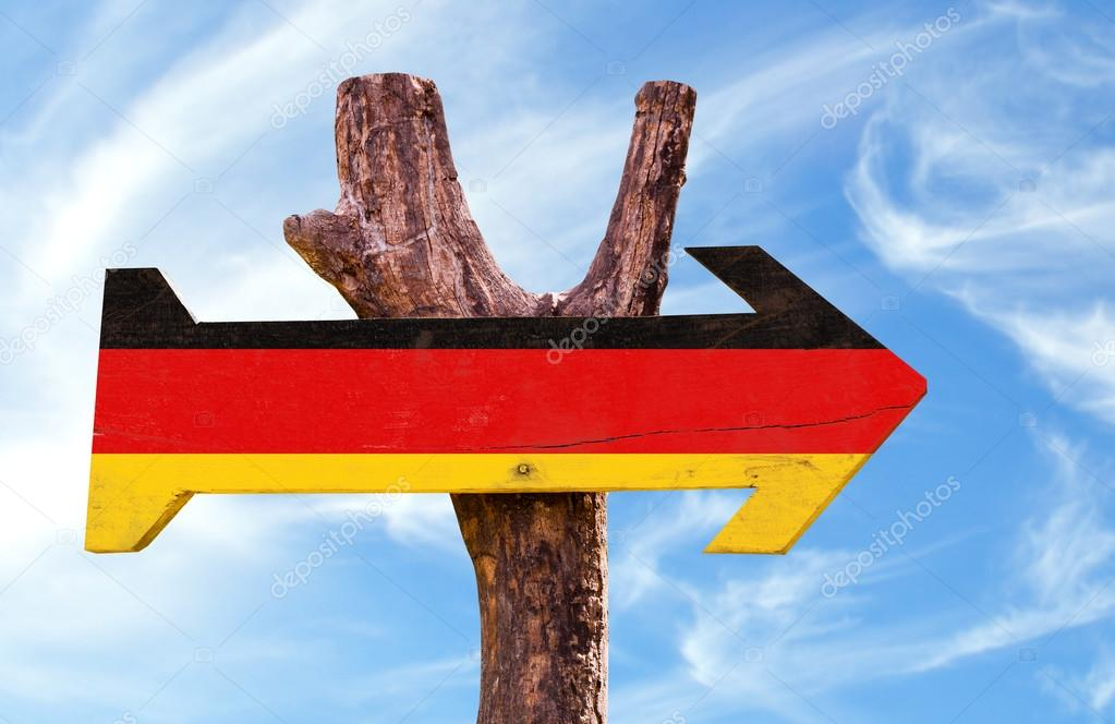 Germany Flag wooden sign