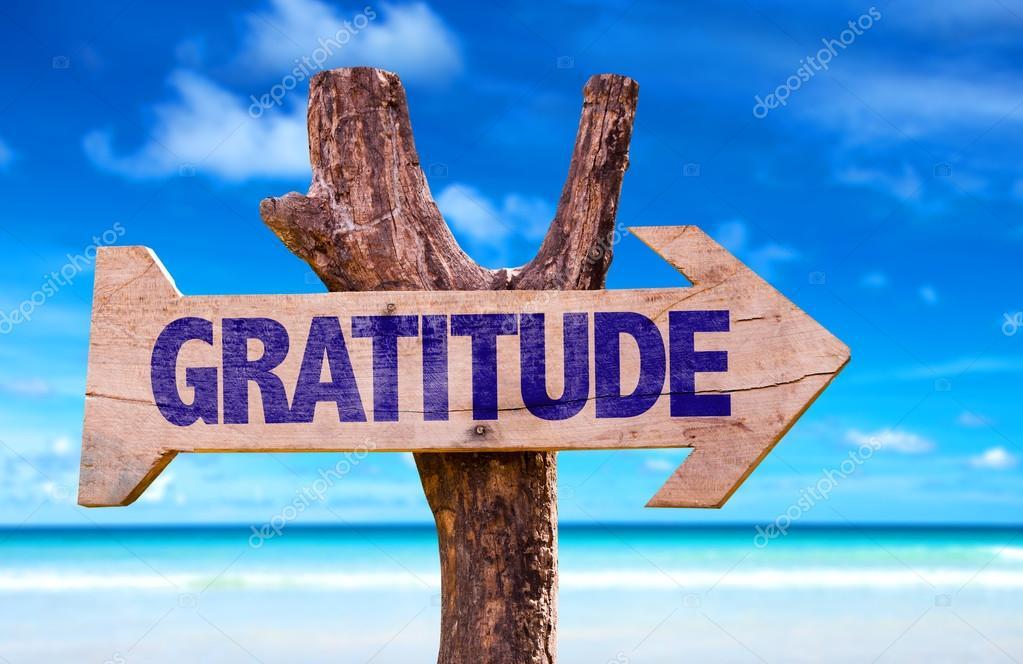 Gratitude wooden sign