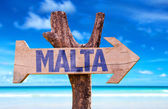 Malta  wooden sign