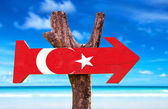 Photo Turkey Flag wooden sign