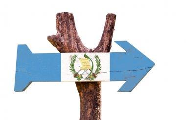 Guatemala Flag wooden sign