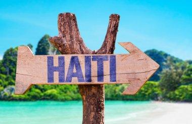 Haiti wooden sign