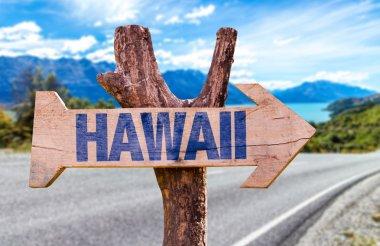 Hawaii wooden sign