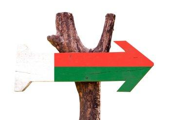 Madagascar Flag wooden sign
