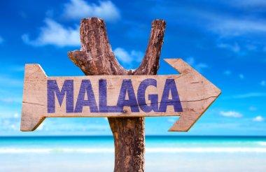 Malaga wooden sign